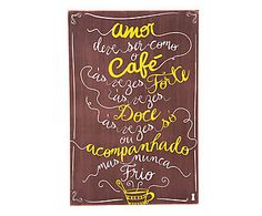 Box Decorativo Amor Café - 40X60cm                                                                                                                                                                                 Mais