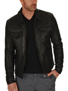 Braden Men Leather jacket
