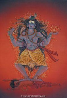 Nataraja, depicted with his body covered in fire. Mahakal Shiva, Shiva Art, Hindu Art, Aghori Shiva, Rudra Shiva, Om Namah Shivaya, Maa Wallpaper, Shiva Photos, Lord Shiva Hd Images