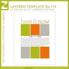 Cathy Zielske's Layered Template No. 114 - Digital Scrapbooking Templates - Cathy Zielske