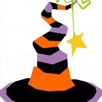 Witches' Hat-A Paper Pieced Pattern - via @Craftsy