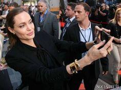 Angelina Jolie  Celebrities Caught Taking Selfies • BoredBug