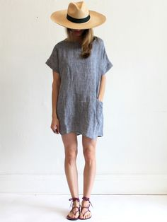 Primoeza Jane Pocket Dress - Indigo