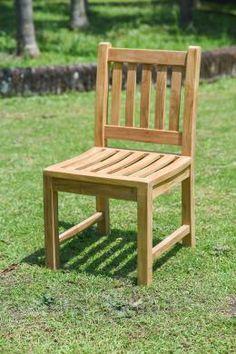 Jetzt auch ohne Armleuhen! Teak Gartenstuhl ohne Armlehne Beaufort #Gartenmoebel #2015
