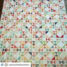 Love this. #quiltsofinstagram #Repost @samanthaleeolsen ・・・ The blocks are together!!! Borders next!! This quilt is amazing. Go make one right now!! #snippetsquilt #bonnieandcamille