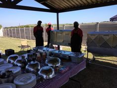 Setup done, Nyama Braai Masters ready to make people smile 😊 Outside Catering, Pig Roast, Catering Companies, Masters, Lamb, Smile, Outdoor Decor, People, Master's Degree