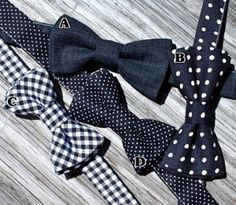 Bow Ties for Groomsmen #navy & white retro wedding board... Wedding ideas for brides, grooms, parents & planners ... https://itunes.apple.com/us/app/the-gold-wedding-planner/id498112599?ls=1=8 … plus how to organise an entire wedding, without overspending ♥ The Gold Wedding Planner iPhone App ♥