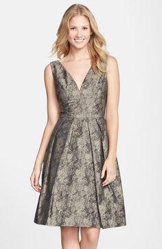 Women's Vera Wang Jacquard Fit & Flare Dress