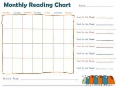 Free printable monthly reading charts for children. Back To School Crafts For Kids, Back To School Activities, School Ideas, Writing Practice For Kids, Alphabet Writing Practice, 1st Grade Math Worksheets, Reading Worksheets, 3rd Grade Writing, Reading Charts