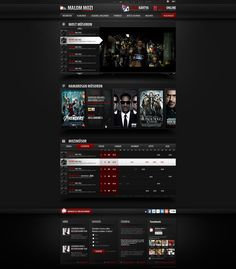 Web Design: Cinema by VictoryDesign on DeviantArt Web Design Trends, Design Web, Art Web, Website Design Inspiration, User Interface, Online Art Gallery, Cinema, Browsing Deviantart, Web Design