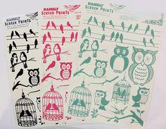 from CHA summer 2011: Hambly's birds & owls rub-ons