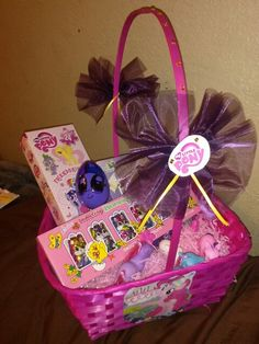 Sofia the first easter baskets google search gifts basket my little pony easter basket i made for my niece negle Choice Image