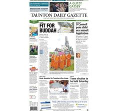 The #frontpage of the Taunton Daily Gazette for Thursday, May 9, 2013.
