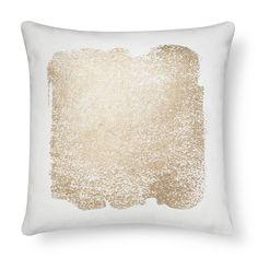 Metallic Square Decorative Pillow Cream - Threshold™ : Target
