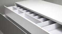 #INSIDHERLAND Homeland Sideboard by Joana Santos Barbosa. #detail #interior #splendor #sideboard #storage #drawers #cutlery #velvet #white