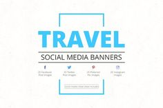 Travel Social Media Banners  by Web Donut on @creativemarket