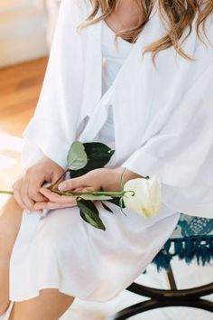 The perfect addition to your special dayor as a gift to showyour bridal party just... Bridal Robes, Bell Sleeves, Monogram, Silk, Coat, Party, Wedding, Fashion, Valentines Day Weddings