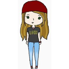 Chibi me! My Drawings ❤ liked on Polyvore featuring doodle, chibi, fillers, other and scribble