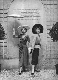 Robert Piguet (R)Schiaparelli, from Vogue magazine, June 1949 issue