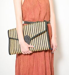 Straw Clutches on Pinterest | Straws, Clutches and Oversized Clutch