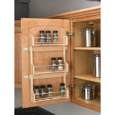 Rev A Shelf 4sr 21 Large Door Mount E Rack Natural Grey Chrome