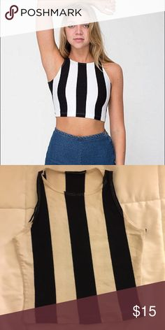 American Apparel Striped Crop Top Lightly worn in great condition! American Apparel Tops Crop Tops