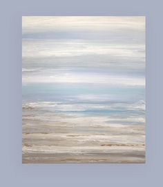 "Art Abstract Painting Canvas Acrylic Beach Shabby Chic Titled: Come Away With Me 30x36x1.5"" by Ora Birenbaum"