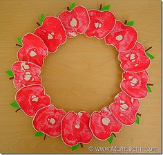 Apple Wreath. This site has an activity for every letter.