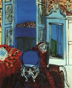 Raoul Dufy: 'Open Window, Nice', 1928. Art Institute of Chicago.