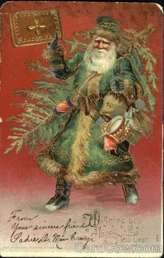 Santa in Green Robe Mr.Russ R.Walworth 109 medow street New Haren