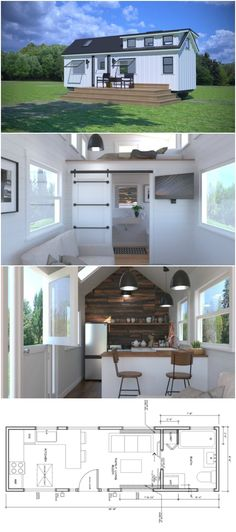 """Introducing Amica, Another Sleek Design From Covo Tiny Homes - Remember the Mio """"Smart"""" Tiny House from Covo Tiny Homes? This talented tiny house designer from Oregon has done it again, releasing yet another brilliantly simple tiny house design, this time called """"Amica."""""""