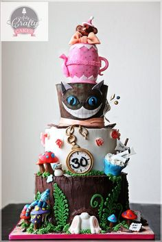 ALICE IN WONDERLAND CAKE - by ArtyCraftyCakes @ CakesDecor.com - cake decorating website