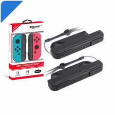 Buy 1 Pair DOBE Controller Charging Handle Grip Joystick for Nintendo Switch Joy-Con (Color: Black) at Wish - Shopping Made Fun Minion, Nintendo Switch, Handle, Joy, Pairs, Make It Yourself, Color, Black, Minions