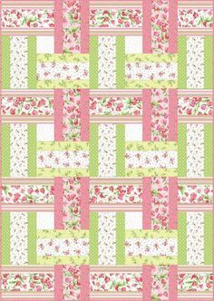 13 Strip Quilt Patterns You Can Easily Master 2019 Sweet Pea Sweet Weave Free Quilt Pattern The post 13 Strip Quilt Patterns You Can Easily Master 2019 appeared first on Quilt Decor. Strip Quilt Patterns, Jelly Roll Quilt Patterns, Strip Quilts, Easy Quilts, Quilt Blocks, Quilting Patterns, Quilting Ideas, Beginner Quilt Patterns Free, Free Baby Quilt Patterns