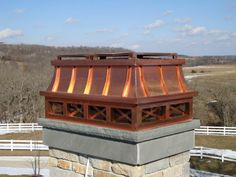 Haute Provence in heavy copper from Chimney King. This beauty has French Country styling and flair to burn. This has a low profile but it is hard to miss. Another of our Becky Alexis / HIVE Architecture  assisted designs.