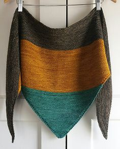 Free pattern for Colourblock Shawl by Jenn Emerson in 4ply