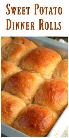 Sweet Potato Dinner Rolls are very fluffy,soft and delicious! The recipe is extremely easy to make using either fresh or canned mashed sweet potatoes. via @https://www.pinterest.com/BunnysWarmOven/bunnys-warm-oven/