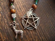 Cernunnos/Pan/Herne/Dionysus/Puck/Pagan God/Meditation/Pagan Prayer Beads by TheReflectivePause.etsy.com