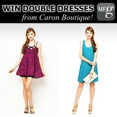 """WIN these 2 DRESSES from Caron Boutique!  ONE lucky winner & a girlfriend will get to win these dresses, just do the following:  1) Click """"NOTIFY"""" on CaronBoutique on My Fashion Guide (via our app or website www.myfashionguide.com) 2) Tag a girlfriend that you wish to win one of these two dresses with you!"""