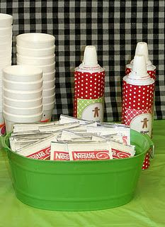 Hot Chocolate Bar for all those Winter Birthdays.. awesome idea! Maybe add a little Bailey's to the hot chocolate bar? :)