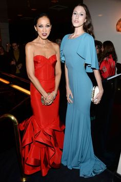 No mother-daughter duo works a Zac Posen gown moment like Pat and Anna Cleveland.