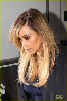 kim kardashian--healthy, lighter hair