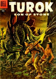 Turok, Son of Stone (No.7 Mar.-May 1957) Cover Art by Morris Gollub