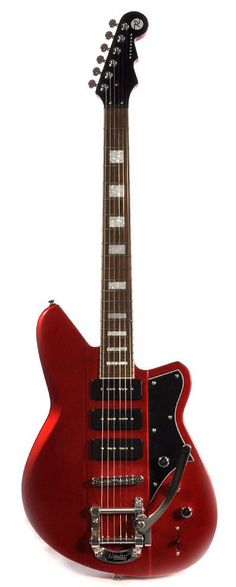Reverend Warhawk III 390 Metallic Red w/ Rosewood Fretboard and Bigsby Vibrato - by Stringjoy Custom Guitar Music Guitar, Guitar Amp, Cool Guitar, Guitar Pins, Reverend Guitars, Guitar Collection, Beautiful Guitars, Pedalboard, Custom Guitars