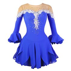 Ice Skating Dress Women's Half Sleeve Skating Skirts & Dresses / Dresses High Elasticity Figure Skating DressBreathable / Wearable / – USD $ 89.99