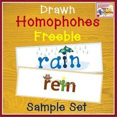 Drawn Homophones - Free