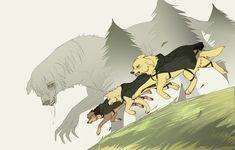 Shingeki no Kyojin Dogs by zence