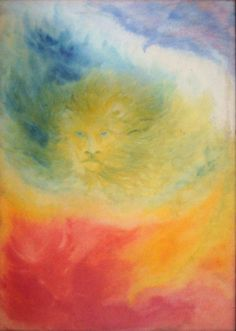 Eagle, Lion and Cow Waldorf Curriculum, Waldorf Education, Rudolf Steiner, Lion Painting, Watercolor Paintings, Form Drawing, Steiner Waldorf, Chalkboard Drawings, Texture Art