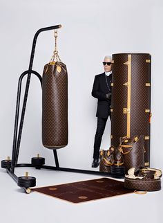Karl Lagerfeld reimagines the iconic Louis Vuitton logo.