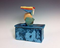 Pelican Box: Ceramic Sculpture by KeyWestPottery on Etsy